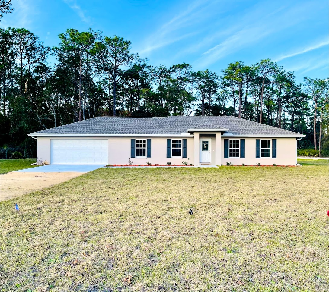 Beautifully new built home situated on just a little over five acres. Open floor plan, granite countertops, wood cabinets, stainless steel appliances & beautiful vinyl flooring throughout. The master has a walk in closet, master bath attached with a step in shower & double vanity sinks. This is an excellent location with a very peaceful private setting but is just close enough to get to town within 5 minutes. The home is $1700 per month without utilities. Move in requirements: Must be willing to sign a years lease. Provide first, last & security. $50 application fee per adult. Must pass a credit/background check. One small dog allowed with a nonrefundable pet fee, must follow breed restrictions.