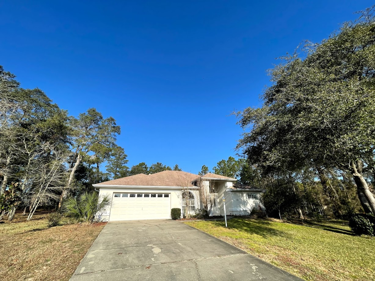 Sugar Mill Woods pool home!  The home includes a large pool (not heated) with a pool cage, two car garage, open concept kitchen, living and dining areas. Beautiful formal dining space with chandelier light & plantation shutters. Pool service, lawn care, standard cable, and internet is included!  Excellent community location.  HOA rules apply. One year lease required. NO PETS. Credit/background check required with $50 application fee per adult, 1st, last, and security required for move in.