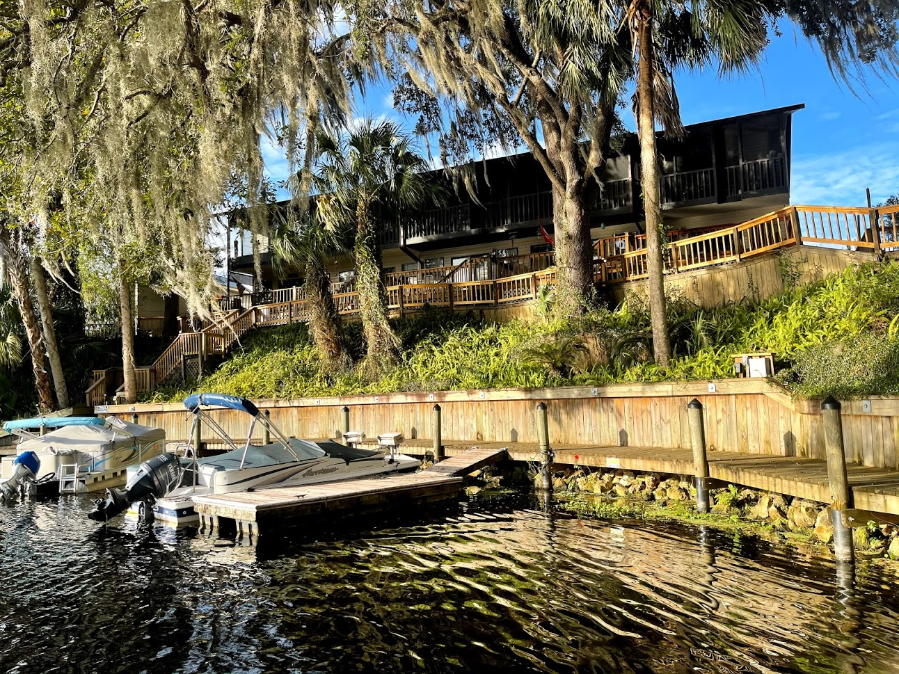 Bring your boat, trailer, and fishing poles to this waterfront rental property in Dunnellon, Florida; THE BASS CAPITOL OF THE WORLD!  View the beautiful Rainbow River and Withlacoochee River from the HIGHEST point on the river. This property is also located right down the street from biking trails. It's the perfect location for the outdoorsman or anyone who wants a real Florida experience. Rent this 2 Bedroom, 2 bath, condo located right on the water in the downtown Dunnellon area at the confluence of the beautiful Rainbow River and Withlacoochee River. This Dunnellon rental is close to the Gulf of Mexico, shopping, great restaurants and activities. Will rent for $1750 with up to $150 cap on the electric included! Don't miss out on this one of a kind rental. (Any rental reservations for less than six months & one day have 11% short term tax)