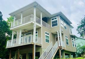 Welcome to this extravagant 3/2 waterfront home located in the heart of old Homosassa. This beauty sits up high on stilts overlooking a canal. The home has two separate levels. The first floor includes a fireplace, full kitchen with granite countertops, wood cabinets, two bedrooms & two full bathrooms($2,500). The second level also has a fireplace with glass to see through to the outdoor deck! Second level has a mini kitchen, living/dining area, full bedroom & bathroom. Bring your boat, kayaks & fishing gear! This home is equipped for a fabulous vacation or year round residence. It is fully furnished with everything necessary for your stay. (Any rental reservations for less than six months & one day have 11% short term tax). Rented 02/14/21-03/27/21.