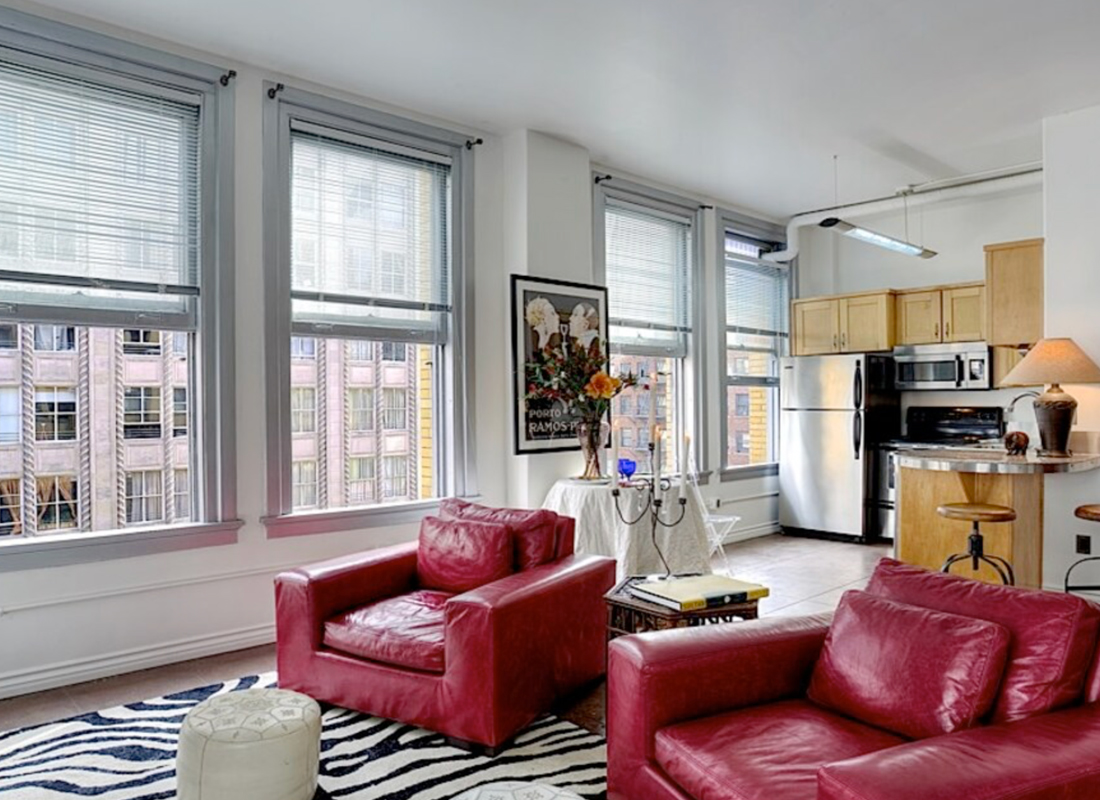 Perfect Exterior City Light Corner Unit on the 8th Floor, ready to move in. Freshly painted, New Window Blinds, Huge New Free Standing Closet , New Dishwasher and New Kitchen Sink Faucet. New Lighting Fixtures and New Motor for Heating/Cooling Wall Unit. Stained Cement Floors add Flare. Overlooking the corner of 7th Street in the Hottest Part of the Historical Downtown Core, This loft is complimented by High Ceilings and Beautiful Day Light. Walk to Everything, Finest Restaurants, Shopping and Nightlife, Close Walk to the Metro, LA Live, Disney Hall, and the Future Whole Foods. Amenities include 24/7 Doorman, Rooftop with 360 Degree Skyline Views, and Leased parking Available in the Building. The Bartlett is a 14 Story, 1911 Beau-Arts Building with Original Details, Art Deco Updates, and Ground Floor Retail.