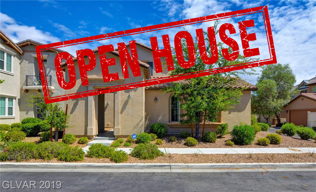 Over 3100 sq ft with 3 Beds & 4 baths, plus a huge den/game room that can also be a 4th bedroom. This Urban Inspired Living development of Inspirada w/ parks and four community pools. Home has a huge great room concept with granite kitchen island & lrg walk-in pantry, wood style laminate floors, downstairs bed & bath, and a great master & an ensuite master bathroom. Gorgeous garden style courtyard w/ synthetic grass & mountain views.