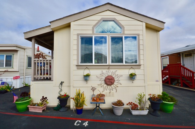 HAPPY 2018 !! A great price reduction that offers a reasonable way to enjoy living on our lovely Central Coast ~~ be it a second home or a retirement home.  A short distance to our Morro Bay sand, surf and magnificent Rock, you will enjoy living in this lovely open floor plan manufactured home that has abundant storage. Located in a Senior park (55/45 & over) it features a spacious master bedroom and a second bedroom that could be used as a den or an office, 1 large bath, new vinyl plank flooring throughout, a sliding glass door which opens to the patio, all appliances are included (new dishwasher and washer). This home is a 2009 Skyline (16 by 60) 960 sq. ft. with a fully enclosed patio/yard. Seller had a custom wooden and glass studio built with access to electricity and has many options for use. Also has a smaller shed and pavers on this 8 by 18 foot patio. Dog run in back of the home (pet friendly park with okay from manager). A must see to really appreciate. Home has been lovingly maintained and cared for. Turn-key, move in ready. A great commute location ~ very small distance to Highway One which leads to our many amazing beaches, that run along our Central Coast, unique shopping, restaurants, terrific sites to see and the list goes on. Easy to see just give us a call. Also check out (google) Silver City Resort Mobil Home Park in Morro Bay to see the beautiful area where you could soon be living.