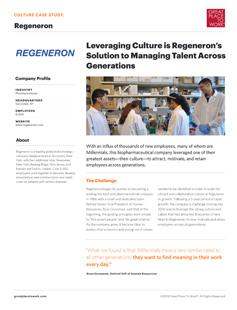 Regeneron Culture Case Study