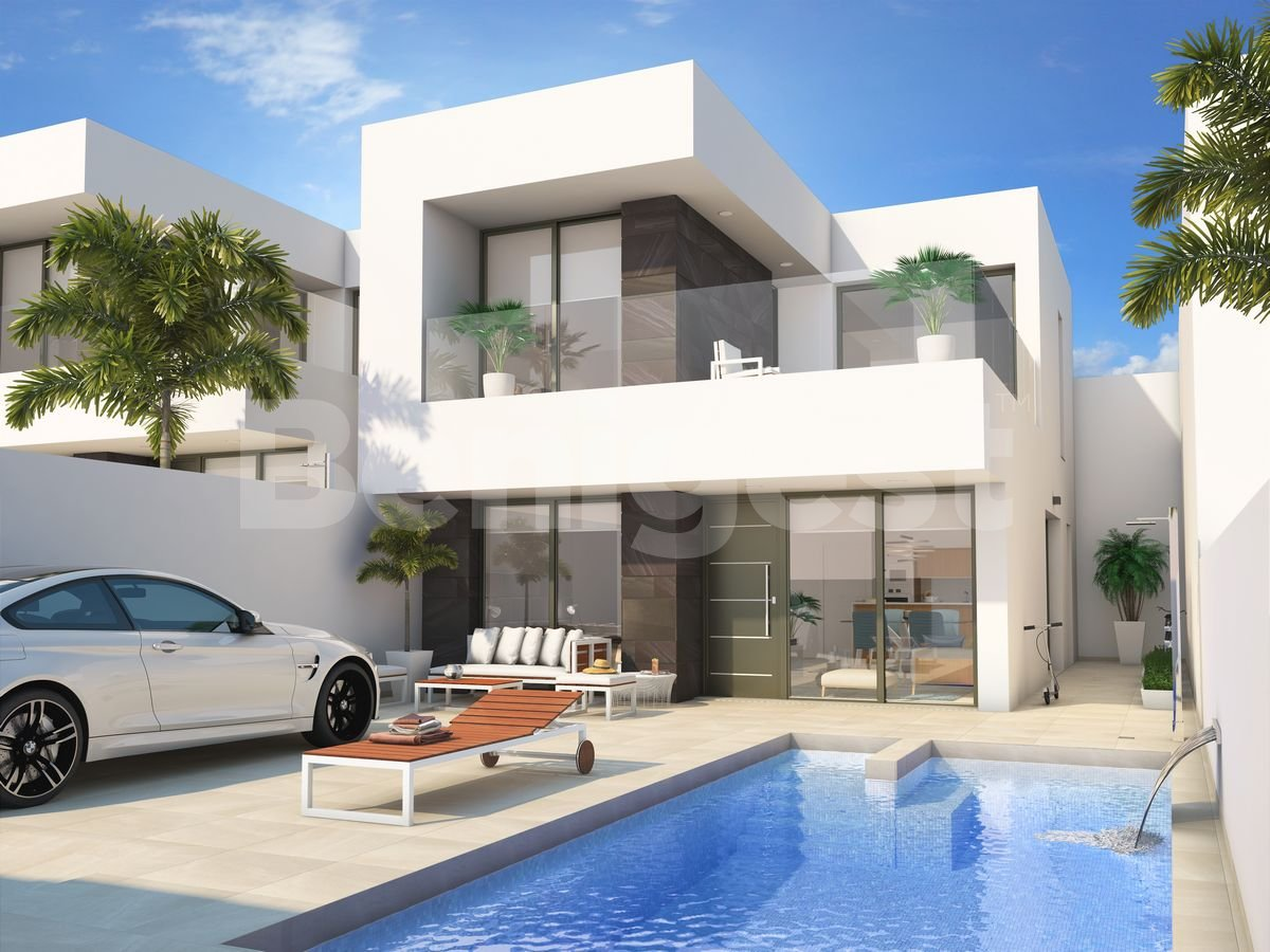 Three bedroom and two bathroom modern style villa