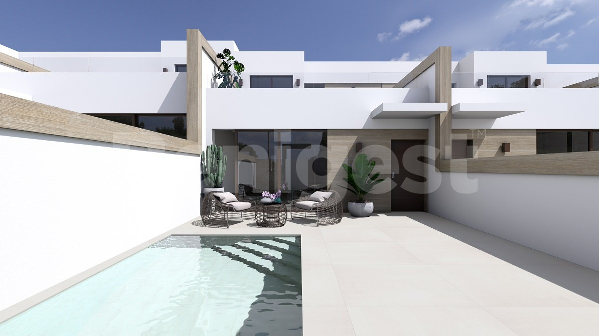 Three bedroom semi- detached villa with pool