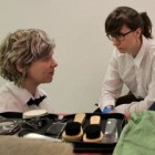 SERVUS! is a one-to-one performance experience for cash, in which the audience member is invited into a bespoke shoe-shine combined with an iPod-induced auditory hallucination.