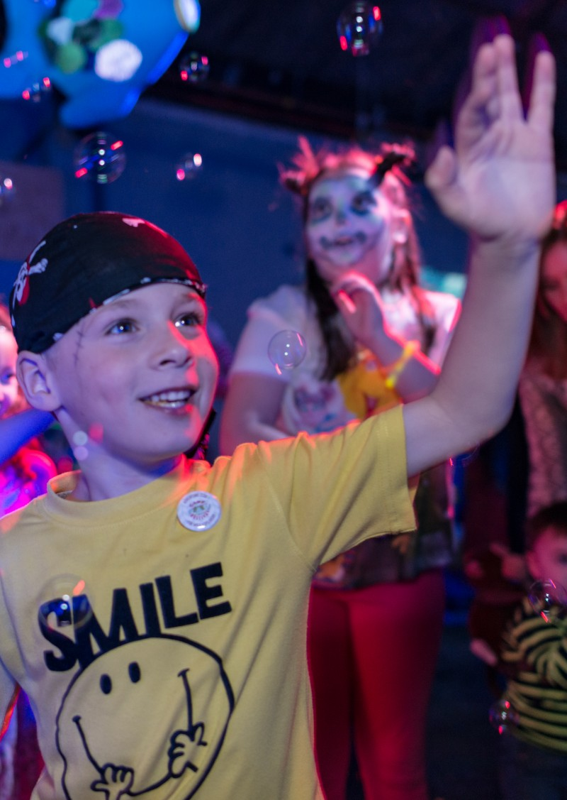 Big Fish, Little Fish present their 'Family Rave' for 0-8 year old children in the Great Hall at Lancaster Arts at Lancaster University on Sunday 25 September 2016.