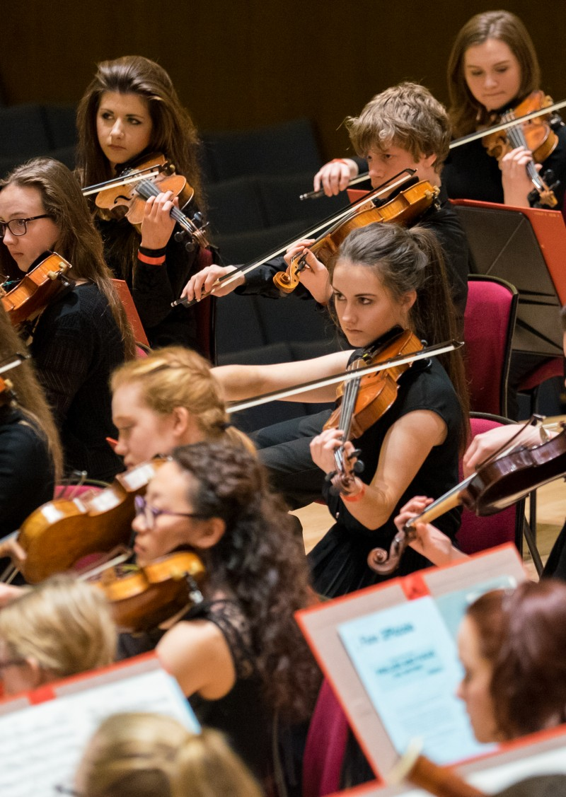 Liverpool Philharmonic Youth Orchestra perform at the Great Hall
