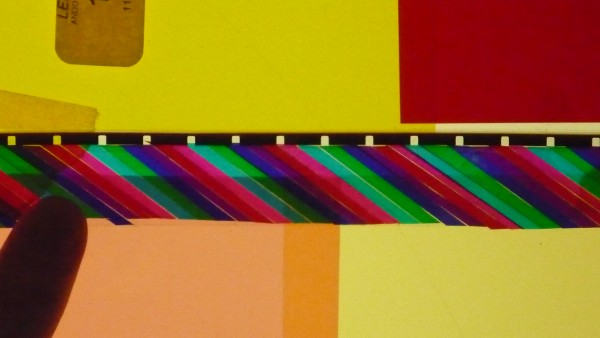 Mat Fleming, Strip From Peacock Lee, 2010, Lighting Gels recycled perforations