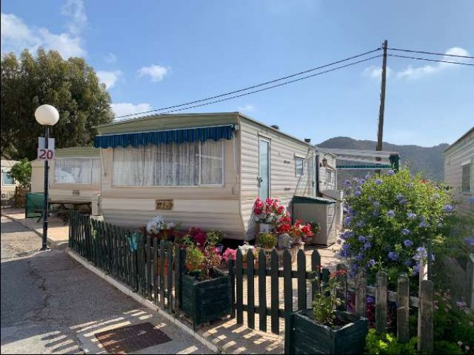 Static caravan by the sea, on the Costa Blanca.