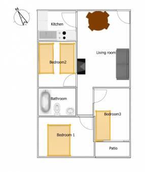 A 3 bedroom 1 bathroom apartment  (16)
