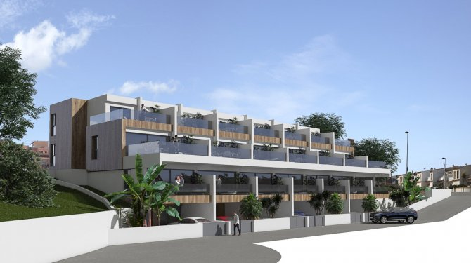 Modern apartments built on two levels