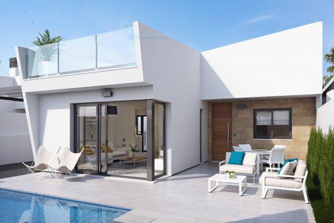Modern bright villas on one level close to Roda Golf