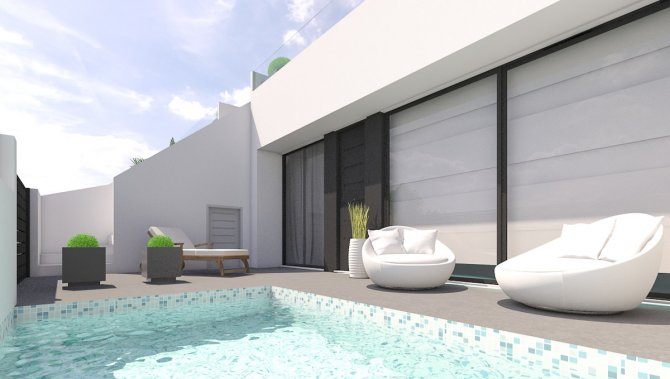 Stunning linked villas with large solarium and pool option