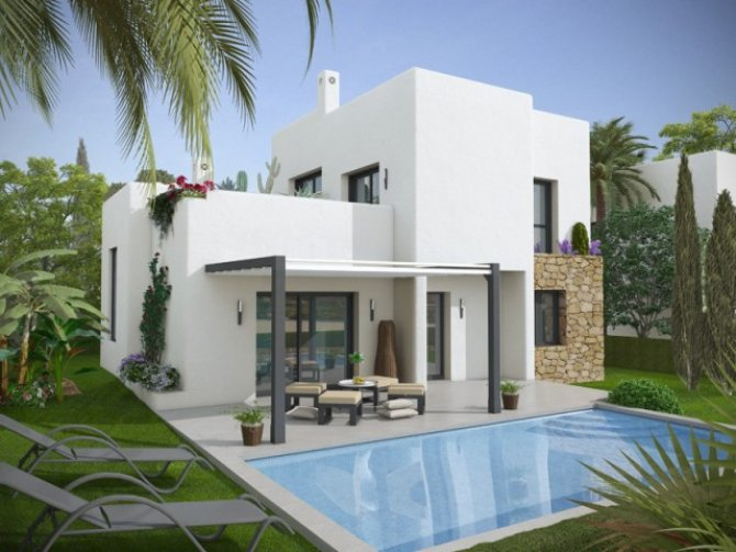 Stunning modern luxurious, 3 bedroomed villas with private pool and lake views