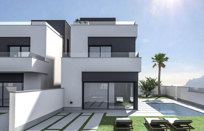 Contemporary villas with option of private pool