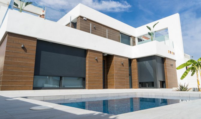 Modern design Mediterranean style villa with Spacious rooms and top quality finishes