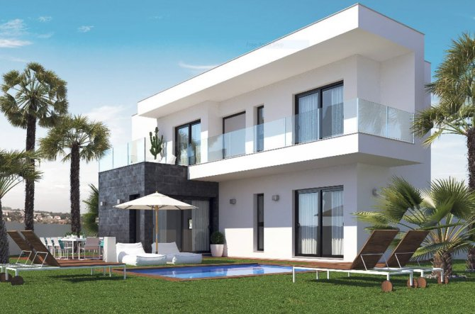 Just 2 minutes from the beach Stunning WOW factor modern villas