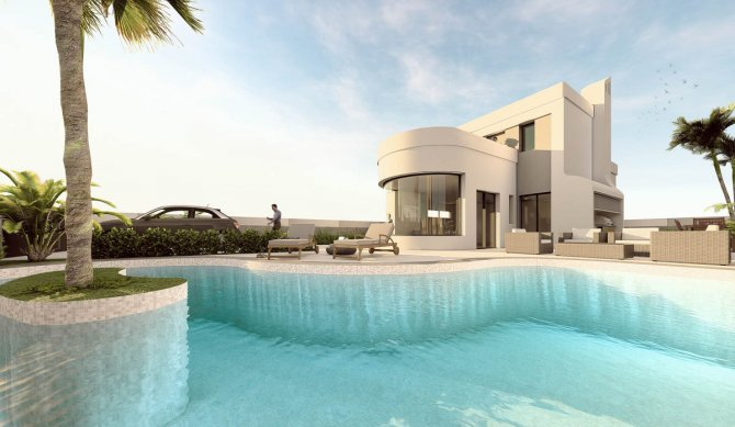 Stunning Villa with lagoon pool close to golf