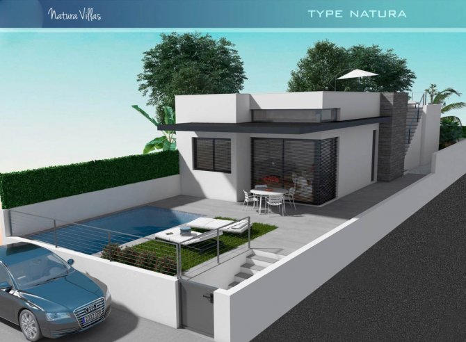 Modern luxury villas with lovely views