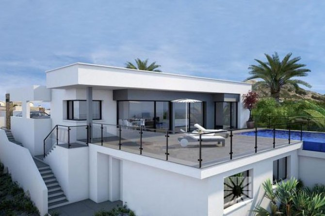 Luxury villas with fantastic sea views