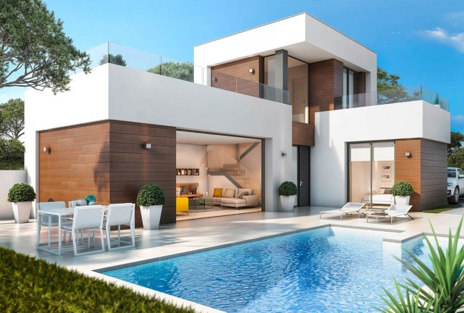 Spacious villas with stunning views and private pools