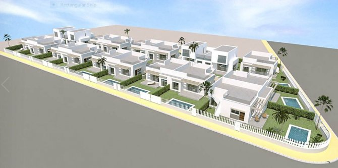 South-East facing villas with opiton of 77m2 solarium