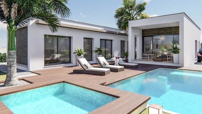 Luxury detached villa with swimming pool and jacuzzi
