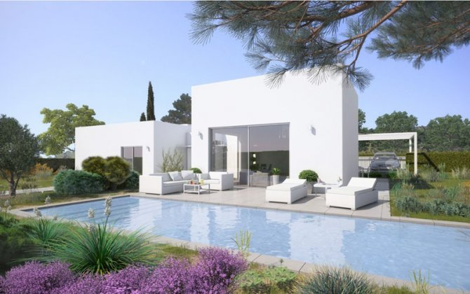 Contemporary luxury 3 bedroom villas with large gardens.