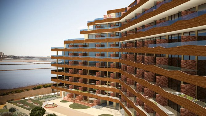 Apartments with stunning views over the Mar Menor out to the Mediterranean Sea