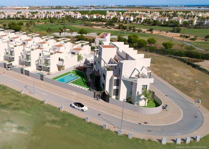 Modern apartments 5 mins walk to  Roda Golf Club house and facilities