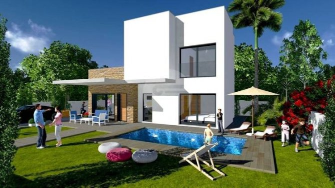 Impressive luxury development of 3 bedroom villas with private pool and solarium on plots from 219m2 to 303m2