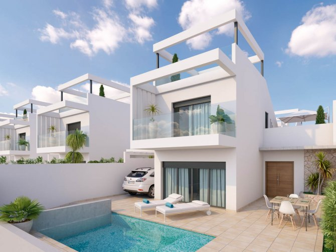 Stunning Villas just a short walk from Roda Golf Club House and Course