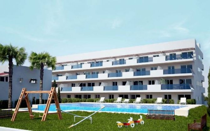 1 bed apartments with communal pool in the luxury development.