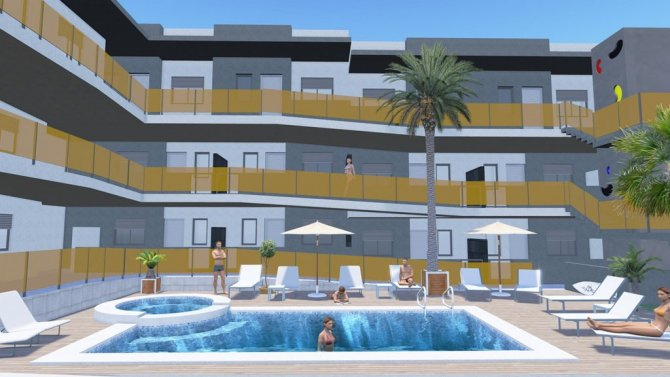 Walkable to the beach! 2 bed apartments with communal pool and underground parking