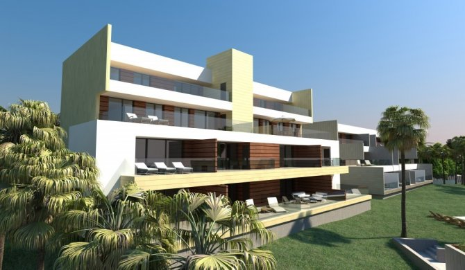 Ultra modern design key model Java II 2 bed/2 bath apartments with communal pool