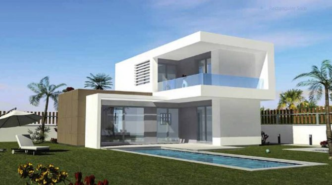 Luxury detached villas with optional private pool