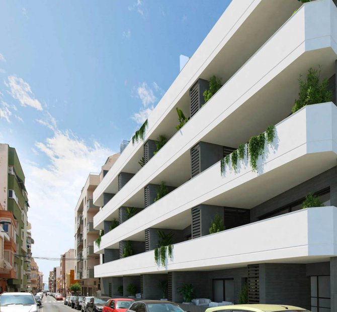 Brand new 2 bed apartments within walking distance of the beach with communal pool