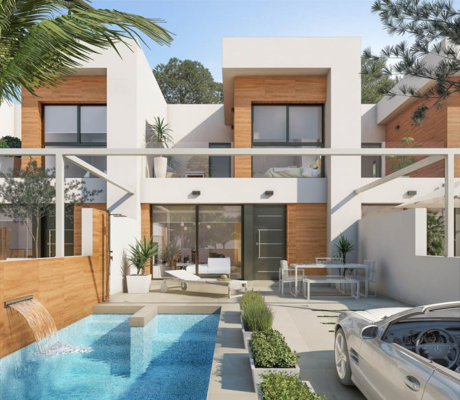 Stunning new townhouses with underbuild