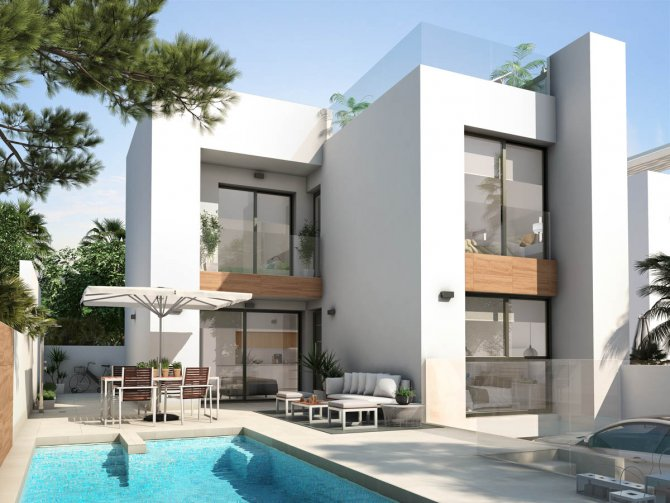 Spacious villas with underbuild and option of private pool