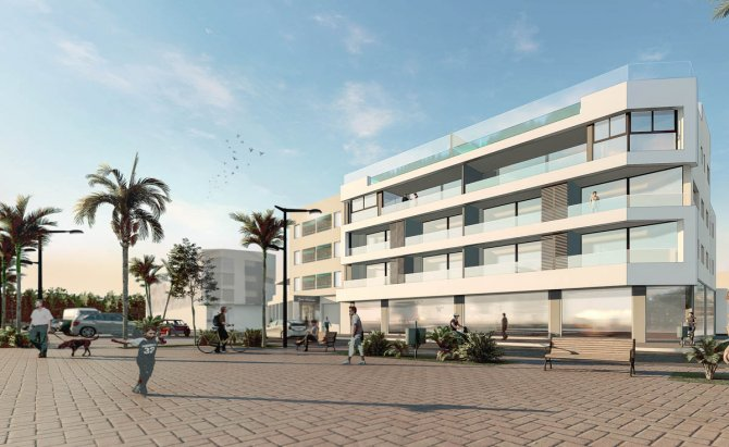 Front-line beach apartments in Lo Pagan