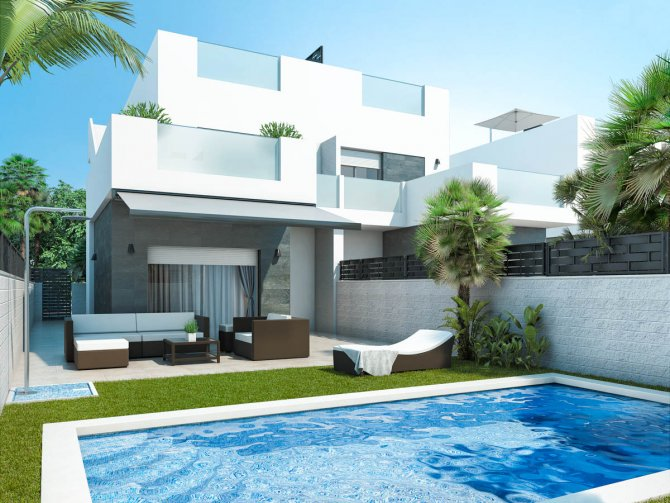 Modern villas with private pool and solarium