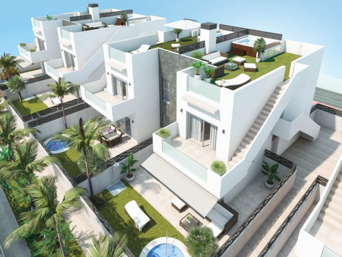Modern apartments with communal pool and option of a Jacuzzi