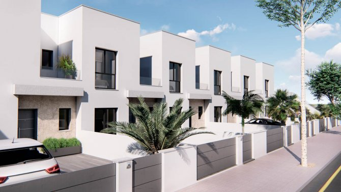 New style duplex townhouses in small development with optional pool