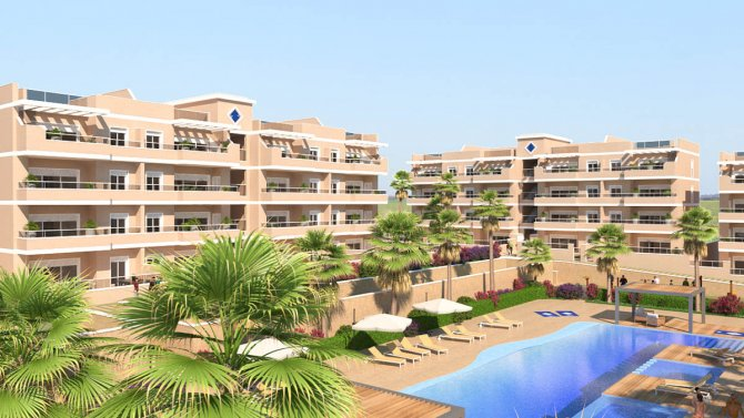 Stunning apartment with all white goods, communal pool, playground and gym