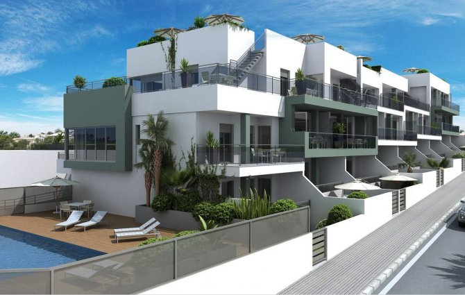 Modern 2 bed 2 bath apartments with communal pool