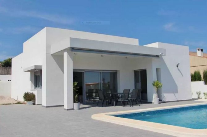 Luxury 3 bed 2 bath villas with private pool in Benijofar
