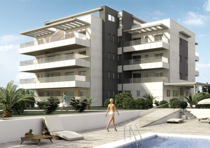 Superb apartments with communal pool, spa, and fully fitted gym