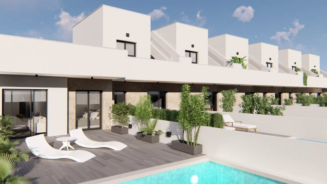 Bungalow properties in small development with optional pool